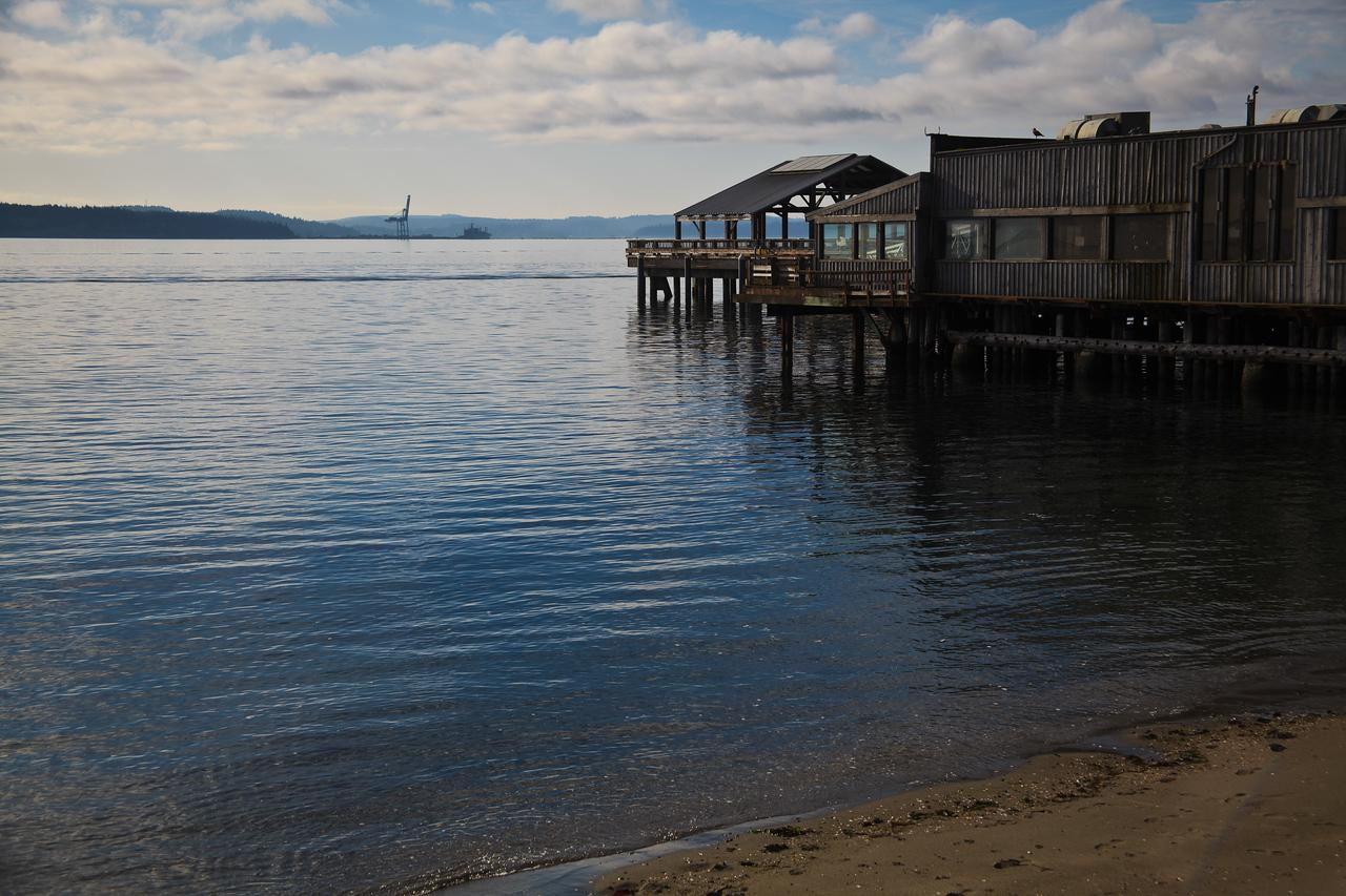 Houses on stiltsPort Townsend on the Olympic Peninsula, Washington, USA